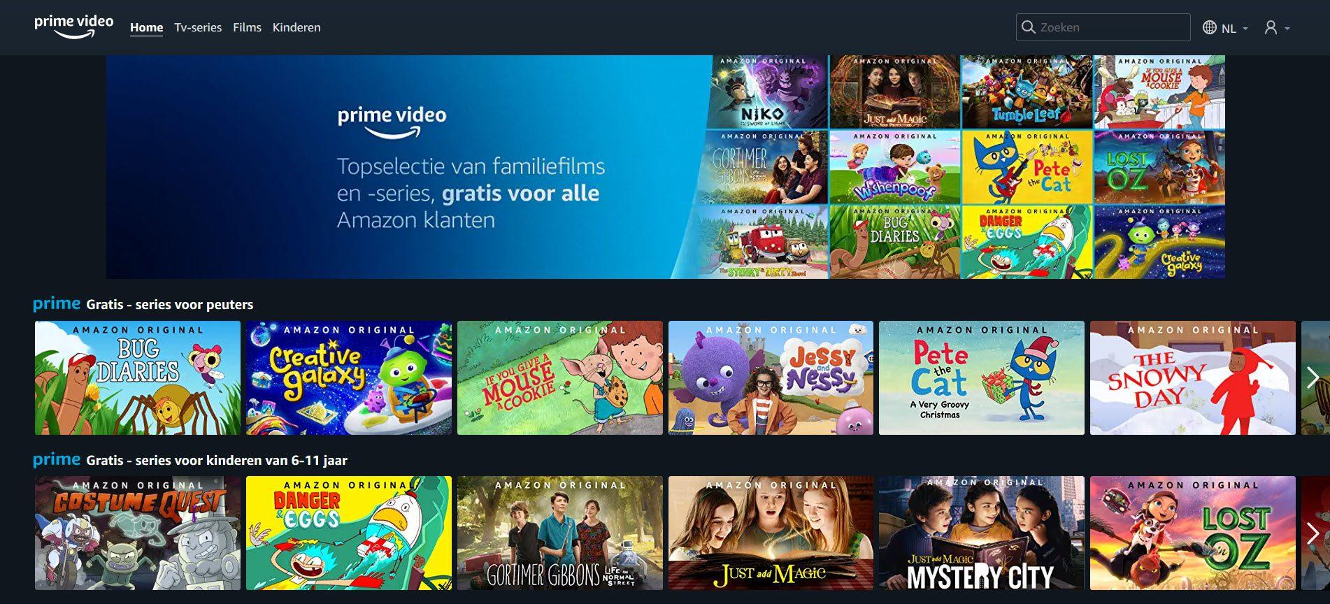 gratis streamen Amazon Prime Video - kinderfilms - kinderseries