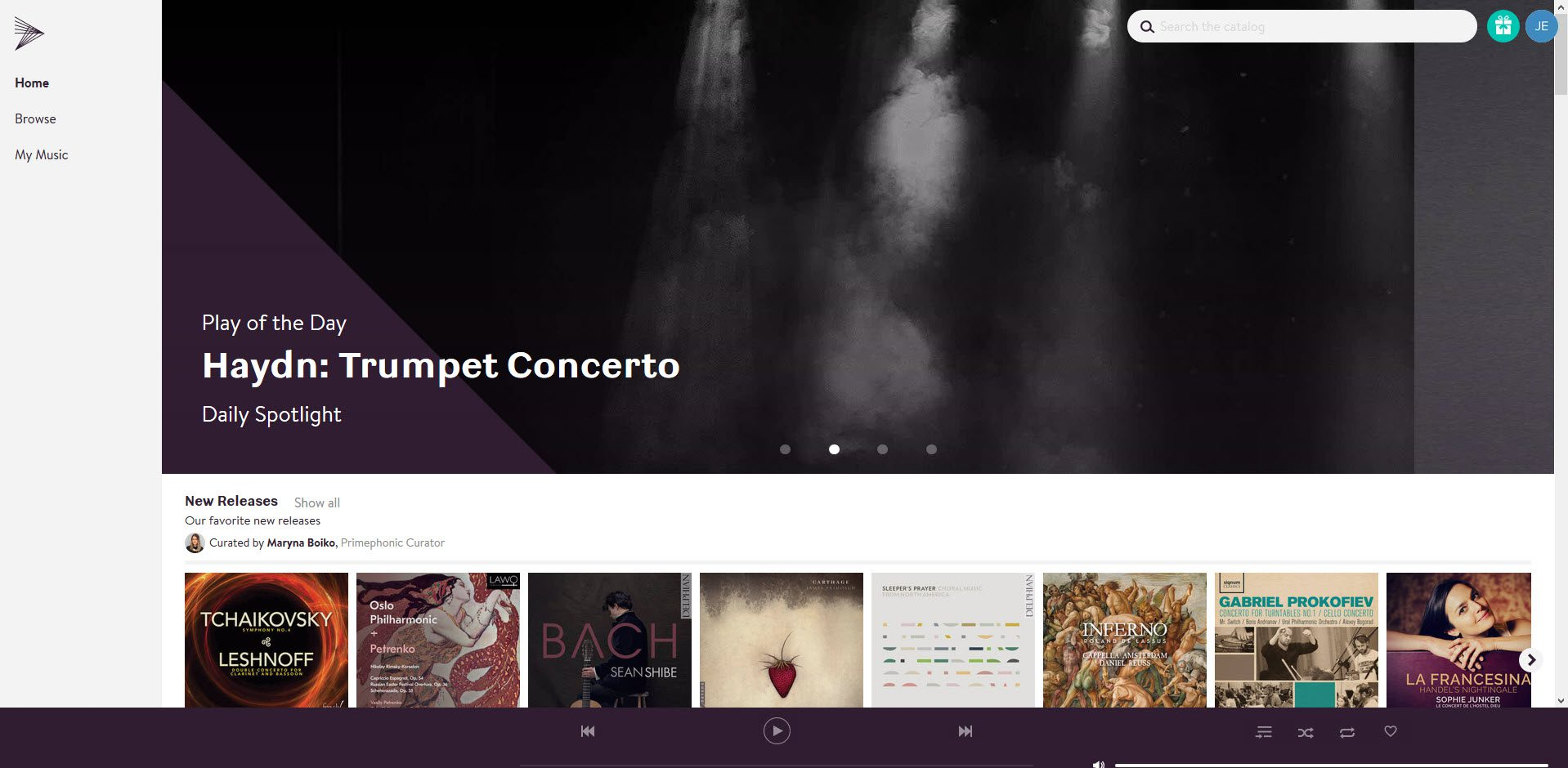 Primephonic webplayer - klassieke muziek streamen - Primephonic classical